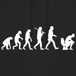 evolution of toilette Pullover & Hoodies - Unisex Hoodie