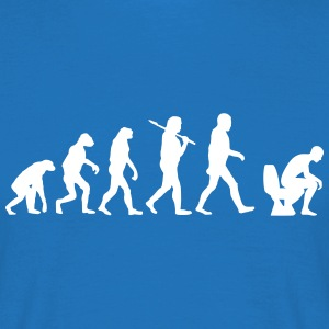 evolution of toilette T-Shirts - Männer T-Shirt