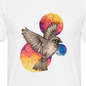 Vit Fire Bird T-shirts - T-shirt herr