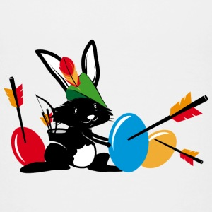 Easter bunny with a bow and arrow Shirts - Teenage Premium T-Shirt