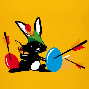 Easter bunny with a bow and arrow Shirts - Kids' Premium T-Shirt