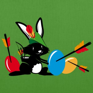 Easter bunny with a bow and arrow Bags & Backpacks - EarthPositive Tote Bag