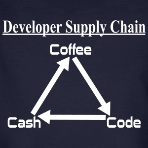 Developer Coffee Code Cash T-Shirts - Männer Bio-T-Shirt