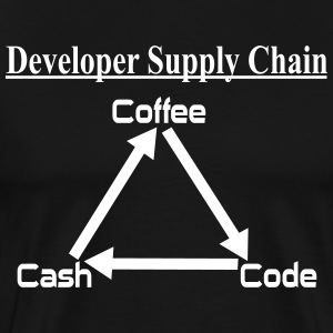 Developer Coffee Code Cash T-Shirts - Männer Premium T-Shirt