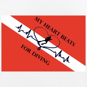 My heart beats for diving T-Shirts - Frauen T-Shirt atmungsaktiv