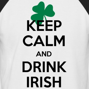 keep calm irish  T-Shirts - Männer Baseball-T-Shirt