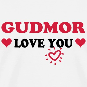 Gudmor love you T-skjorter - Premium T-skjorte for menn