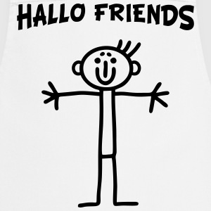 Stick figure - Hallo Friends  Aprons - Cooking Apron