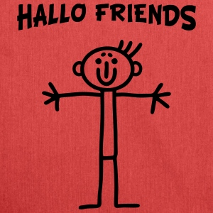 Stick figure - Hallo Friends Bags & Backpacks - Shoulder Bag made from recycled material