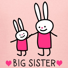 big sister (rabbits) Hoodies