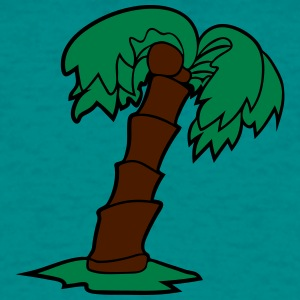 palm comic cartoon lonely tree coconuts T-Shirts - Men's T-Shirt