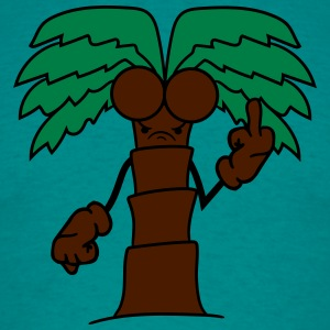 comic cartoon palm small sweet cute coconuts evil  T-Shirts - Men's T-Shirt
