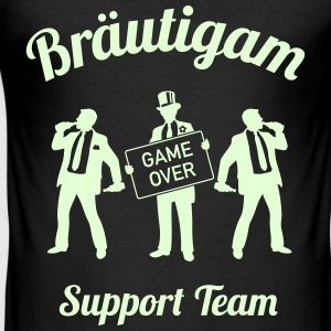 Bräutigam Game Over Support Team (JGA / 1C) Shirt - Männer Slim Fit T-Shirt