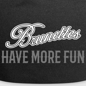 Brunettes Have More Fun 2 Caps & Mützen - Jersey-Beanie