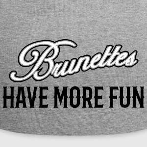 Brunettes Have More Fun 3 Caps & Mützen - Jersey-Beanie