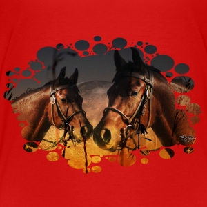 Horse and Moon T-Shirts - Teenager Premium T-Shirt
