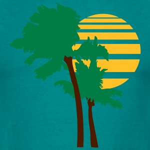 2 palm beach smukke form mønster design skitseret  T-shirts - Herre-T-shirt