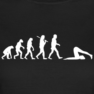 evolution of yoga T-Shirts - Frauen T-Shirt