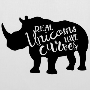 Real Unicorns have Curves! - Stoffbeutel