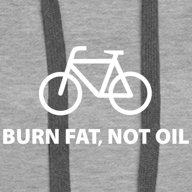 burn fat, not oil  Hoodie Frauen