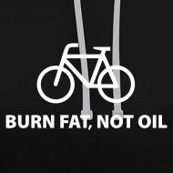 Motiv ~ burn fat, not oil  Kontrast-Hoodie