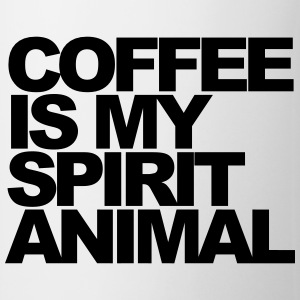 Coffee is my spirit animal Mugs & Drinkware - Mug
