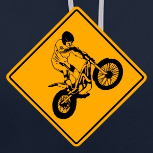 Trial Road Sign Sweat-shirts - Sweat-shirt contraste