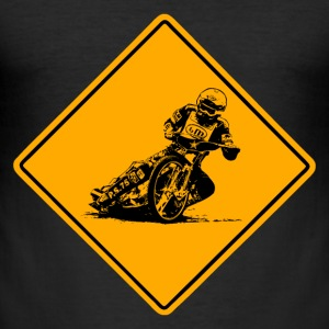 Speedway Road Sign T-shirts - Slim Fit T-shirt herr