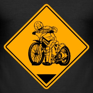 Speedway Road Sign T-shirts - slim fit T-shirt