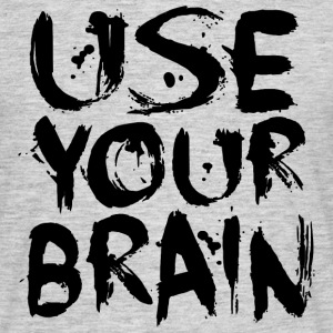 Use Your Brain - Black - Männer T-Shirt