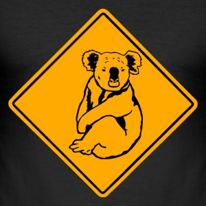 Koala Road Sign T-Shirts - Männer Slim Fit T-Shirt