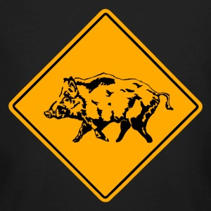 Wild Boar Road Sign T-Shirts - Männer Bio-T-Shirt