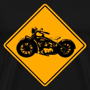 Motorcycle Road Sign T-Shirts - Männer Premium T-Shirt