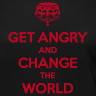 Motiv ~ Get angry and change the world Langarmshirt Frauen