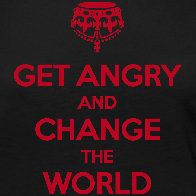 Get angry and change the world Langarmshirt Frauen