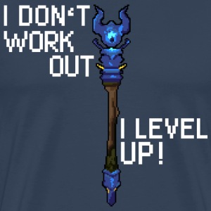 Bleu marine I don't workout I level up! Tee shirts - T-shirt Premium Homme
