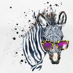 Animal Planet Zebra with sunglasses Women T-Shirt - Dame premium T-shirt