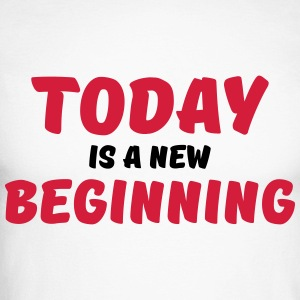 Today is a new beginning Skjorter med lange armer - Langermet baseball-skjorte for menn