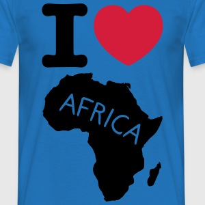 I love africa t-shirt - Herre-T-shirt