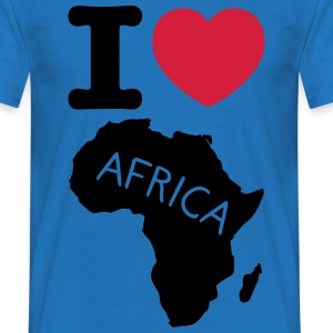 I love africa t-shirt - T-skjorte for menn