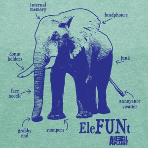 Animal Planet EleFUNt Women T-Shirt - Women's T-shirt with rolled up sleeves