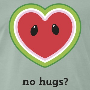 I love t-shirt Melone no hugs T-shirts - Mannen Premium T-shirt