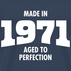 Made In 1971 - Aged To Perfection T-shirts - Premium-T-shirt herr