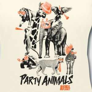 Animal Planet Party Animals Frauen T-Shirt - Frauen T-Shirt mit V-Ausschnitt