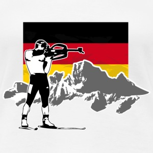 Biathlon - Germany Flag T-Shirts - Frauen Premium T-Shirt