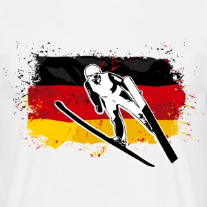 Ski Jumping - Germany Flag T-Shirts - Männer T-Shirt
