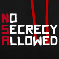Motiv ~ NSA - No Secrecy Allowed  Kontrast-Hoodie
