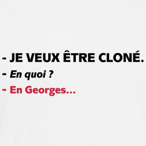 georges cloné Tee shirts - T-shirt Homme