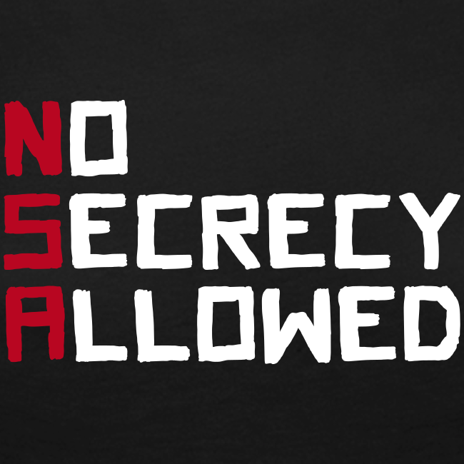 NSA - No Secrecy Allowed  Langarmshirt Frauen