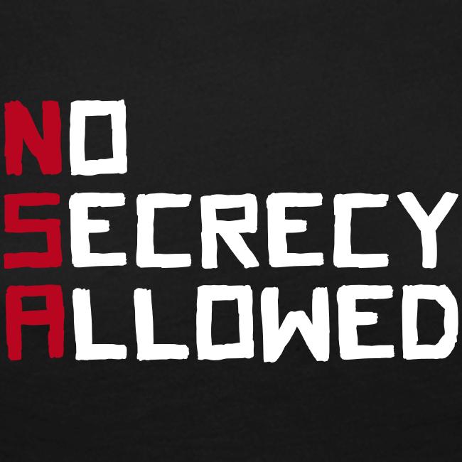 NSA - No Secrecy Allowed  Langarmshirt Frauen